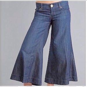 Anthropologie Level 99 Denim Jeans Wide Leg Blue